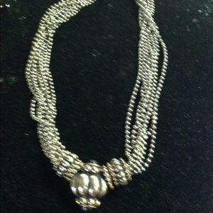 Vintage multi strand necklace